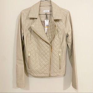 NWT Calvin Klein faux leather jacket - Sz S